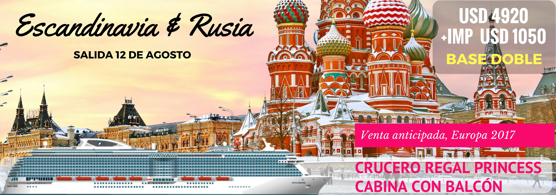 Escandinavia y Rusia con crucero Regal Princess